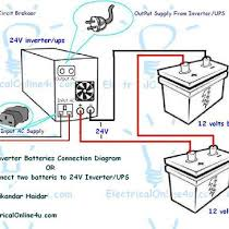 ups & inverter wiring diagram for one room office Inverter House Wiring Diagram read more · how to connect two batteries to inverter & 24 volts ups 2 batteries in my last tutorial post, i published a diagram about how to connect inverter house wiring diagram