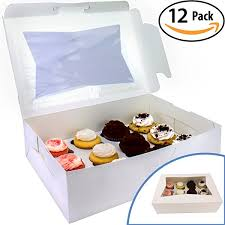Bake Sale Display Pro Quality Bakery Boxes For Cupcakes With Display Window And