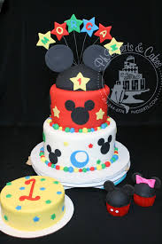 13 Mickey Mouse First Birthday Cake And Cupcakes Photo Mickey