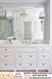 exquisite bathroom boasts a white footed custom washstand adorned with nickel s topped with