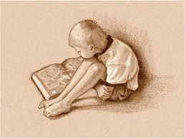 reading drawing boy reading book sepia drawing by joyce geleynse