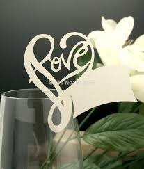romantic love heart name place cards laser cut table name cards Laser Cut Wedding Place Cards cheap event party supplies best party supplies for decorations black laser cut wedding place cards