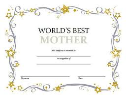 Mother 39 S Day Award Certificate Template