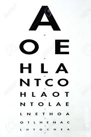 Snellen Chart Free Download Eye Examination Traditional Snellen Chart Used For Visual Acuity