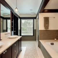 bathroom remodeling chicago il. Remodeling Chicago Suburbs Master Bathroom With Custom Tile, Vessel Sinks, And Built-in Il