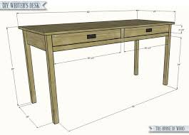 build a simple writer s desk with free plans from jen woodhouse of the house of