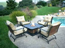 outdoor dining set with fire pit patio furniture fire pit table patio set fire pit table