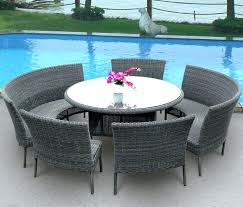 round outdoor dining table for 8 round garden dining table large size of patio outdoor round