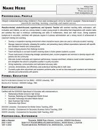 Professional Business Resume Examples Business Teacher Resumes News