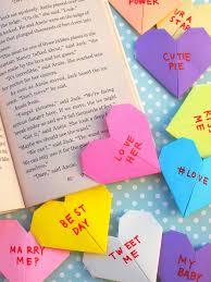 origami conversation heart corner bookmarks great valentine s day craft for kids