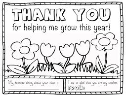 Thank You Coloring Pages For Teachers
