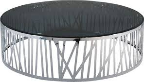 shinny stainless steel coffee table round glass metal end table smoking glass table images