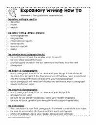expository writing checklist worksheets expository writing checklist