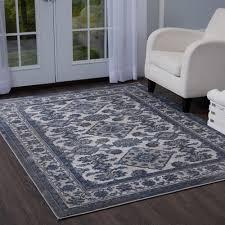 home dynamix bazaar elegance gray blue 8 ft x 10 ft indoor area