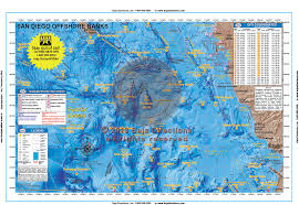 Fishing Charts Mapping Gps Coordinates San Diego Offshore Banks