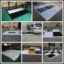 event stage white glossy disco floor temporary flooring dance flooring