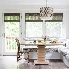 l shaped dining banquette with square dining table