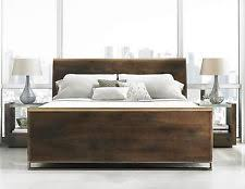 ETHAN 3 Pieces Contemporary Brown Solid Oak Bedroom Set   King Size Panel  Bed