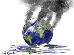 Resultado de imagen de calentamiento global caricatura