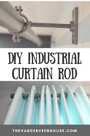 Plastic Pipe Design Make This Industrial Curtain Rod With Brackets And Finials