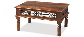 Indian Coffee Table Jali Sheesham 90 Cm Coffee Table Quercus Living
