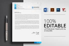 Letterhead Design In Word Word Letterhead Template Vsual