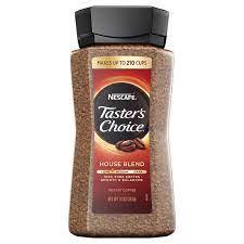 Add 8 oz/ 226 g of nescafé taster's choice coffee to 4.0 gal of water. Nescafe Taster S Choice Instant Coffee House Blend 14 Oz