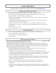 Objective For Executive Assistant Resume Secretary Resume Objective For Administrative Assistant Executive 9