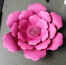 Paper Flower Pattern Best Large Flower Petals Anyone Can Craft