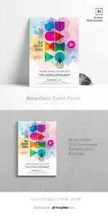 Design And Print Flyers For Free Watercolor Event Poster Flyers Flyer Design Flyer