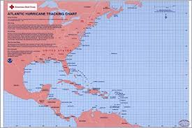 Amazon Com 42x63 Poster Atlantic Ocean Hurricane Tracking
