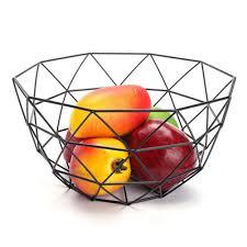 Obstkorb Aus Eisendraht Für Obst Oder Gemüse Im Wohnzimmer Auf Dem Tisch Als Esszimmer Deko Style1