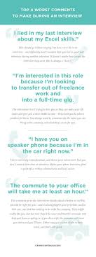 17 best images about interview do s don ts the 4 worst comments to make during an interview
