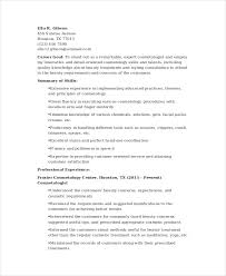 Cosmetology Resume Template Enchanting 48 Cosmetology Resume Templates PDF DOC Free Premium Templates