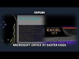 word easter egg microsoft office 97 easter eggs word excel youtube