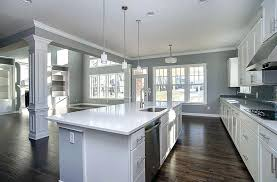 white cabinets white countertop contemporary kitchen with arctic white quartz white cabinets gray walls and tile