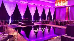 black vinyl dance floor wall d uplighting eaglewood resort spa