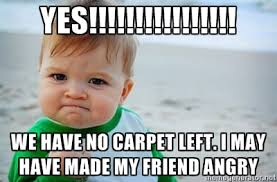 YES!!!!!!!!!!!!!!!! we have no carpet left. I may have made my ... via Relatably.com