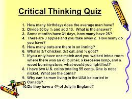 critical thinking quiz pdf SP ZOZ   ukowo