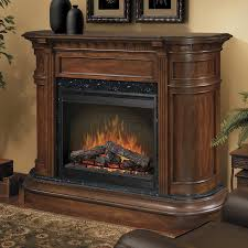 image of antiquerustic electric fireplace with mantel