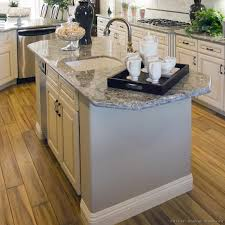 kitchen island ideas with sink. Kitchen Island With Prep Sink And Pull-Out Sprayer Faucet. Wide-plank Wood Ideas T