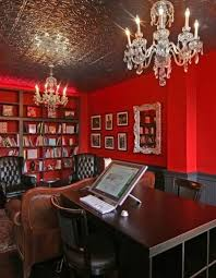 red home office. Red Home Office F