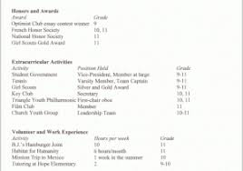 College Application Resume College Resume Examples For High School Seniors 84338 College