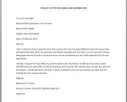 Bank Loan Information Request Letter Smart Letters