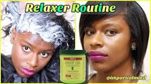 hair relaxer routine ors olive oil