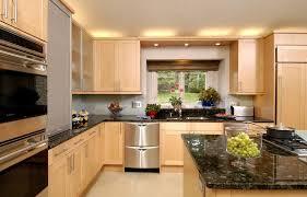 dark granite light cabinets kitchen contemporary with dark granite  countertop resistant floor tiles
