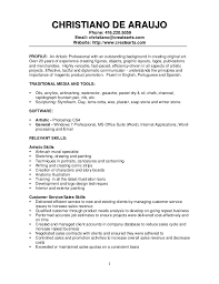 Commercial Painter Resume Sample Profile Traditional Media And Tools