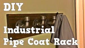 Industrial Pipe Coat Rack Industrial Pipe Coat Rack Easy DIY YouTube 43