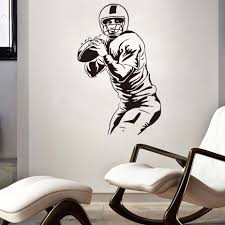 DCTOP Rugby Players Wall Stickers Home Decor DIY Removable Waterproof Vinyl  Wall Decals Sports Murals Graphic Art Decor Sport-in Wall Stickers from  Home ...