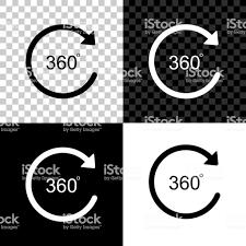 角度360度のアイコンは黒白と透明な背景に分離しました360度の回転